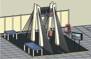 Дизайн-макет выставочного оборудования